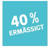 40 Prozent Ermäßigungen Badge